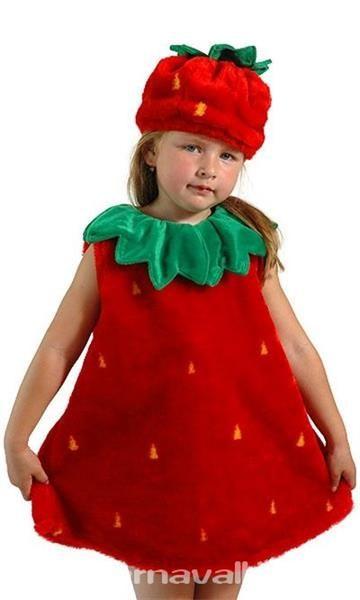 Карнавальный костюм клубника для девочки фото