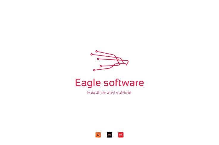 Eagle software logo by anton.akhmatov on @creativemarket
