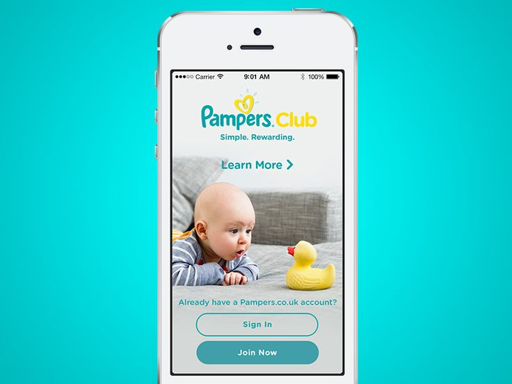 Pampers Club - Welcome page by Jonathan Dury