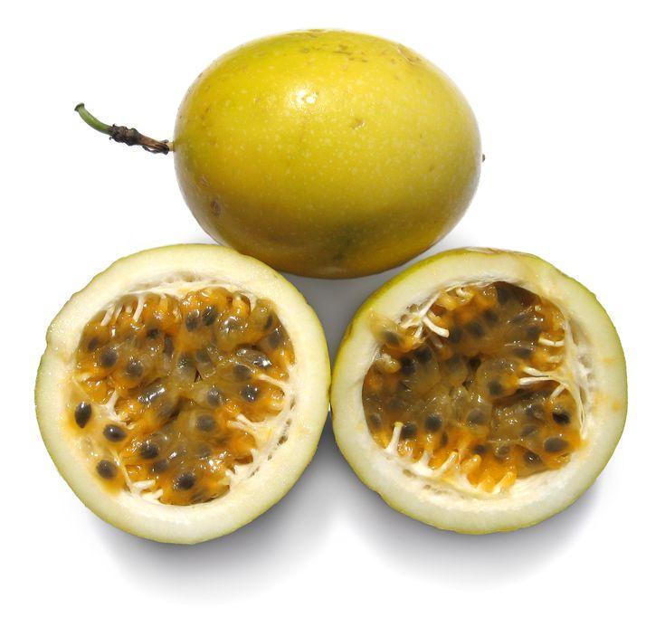 Yellow passionfruit passiflora edulis f flavicarpa