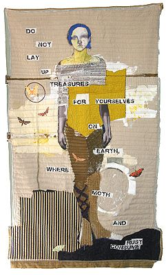Jylian Gustlin: Earth Art Projects, Texts Artworks, Art Inspiration, Collage Art, Earth Treasure, Jylian Stitches, Mixed Media Collage, Jylian Gustlin, Stitches Artworks