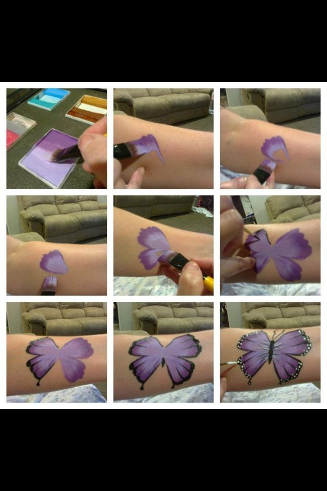 Butterfly step by step instructions in face paint
