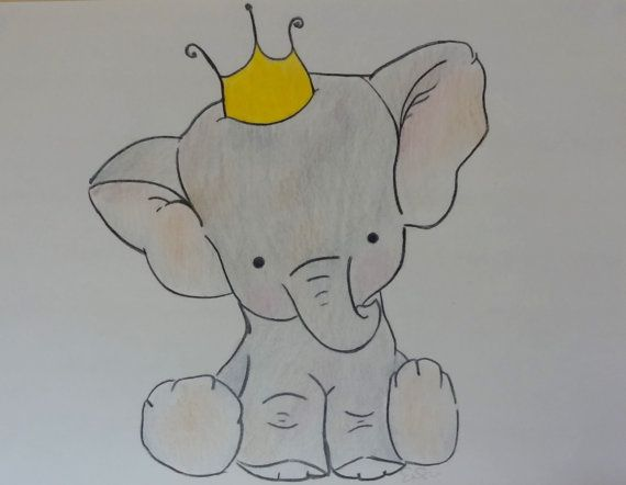 Prince Or Princess Cute Baby Elephant Nursery By