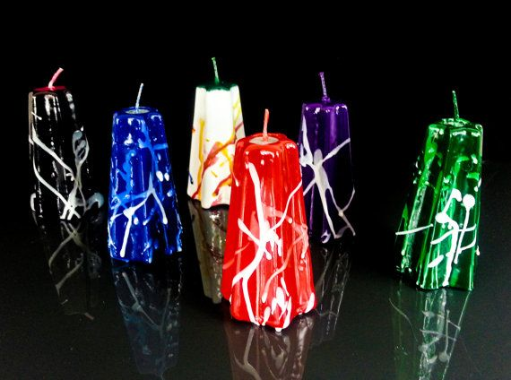 Candle_Candles set_Modern design candle_Christmas by MonnaCandles