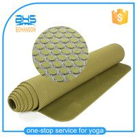 anti-slip double layer nature rubber yoga mat with logo customized