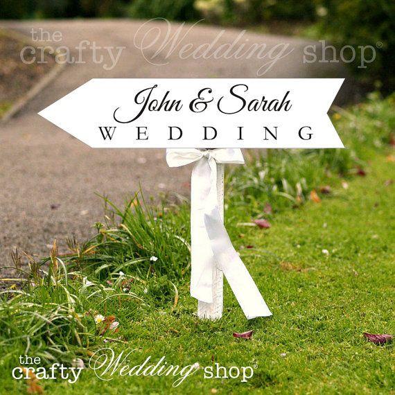 wedding arrow sign wedding directional by thecraftyweddingshop 1999