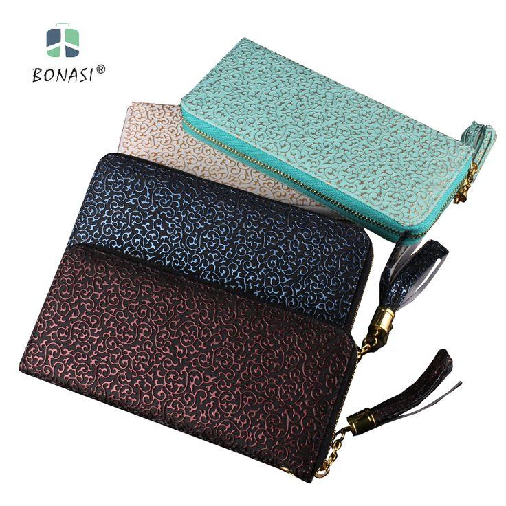 New Women Flower Leather Vintage Women Wallet Long European Simple Large Capacity Clutch Zipper Change Purse Hasp Money Bag