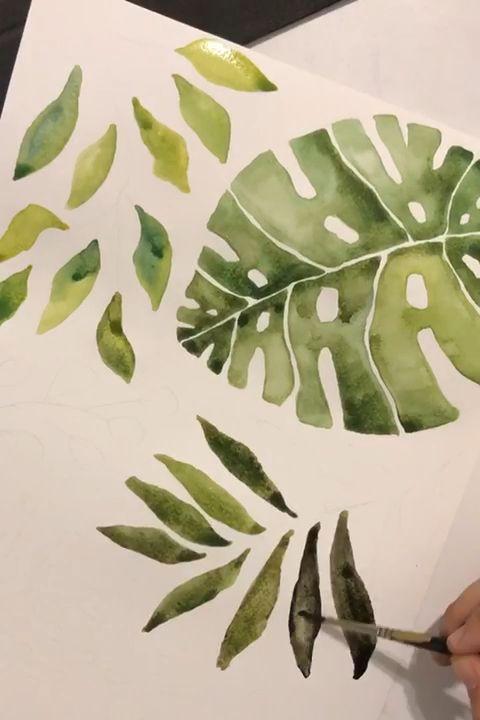 Gardenia-Aquarelle