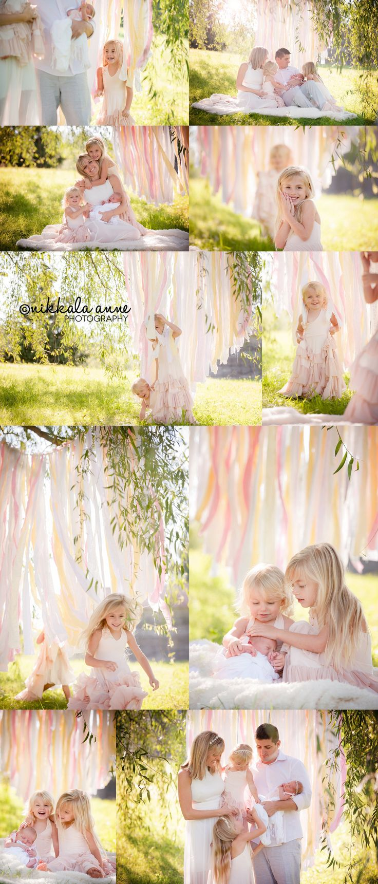 3 beautiful princesses   Nikkala Anne Photography click to see whole blog post newborn photography family photography photo session inspiration siblings willow tree