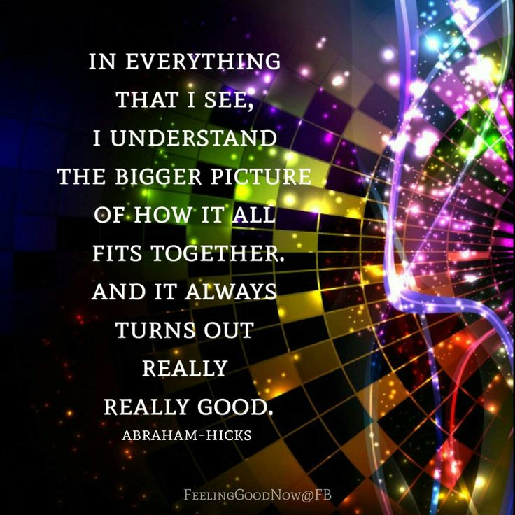 In EVERYTHING THAT I SEE, I Understand the BIGGER PICTURE of How it all Fits Together, and it ALWAYS TURNS OUT REALLY REALLY GOOD!!! Its CALLED the FAITH in GOD and FAITH in ME!!! Quote by Gerard the Gman in NJ!