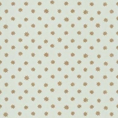 Lower George Street (0273LGBERYL) - Little Greene Wallpapers - Despite its contemporary appearance this abstract design dates from the early 1800s. Pretty gold stars on a fresh duck egg blue background. Please order sample for true colour match.
