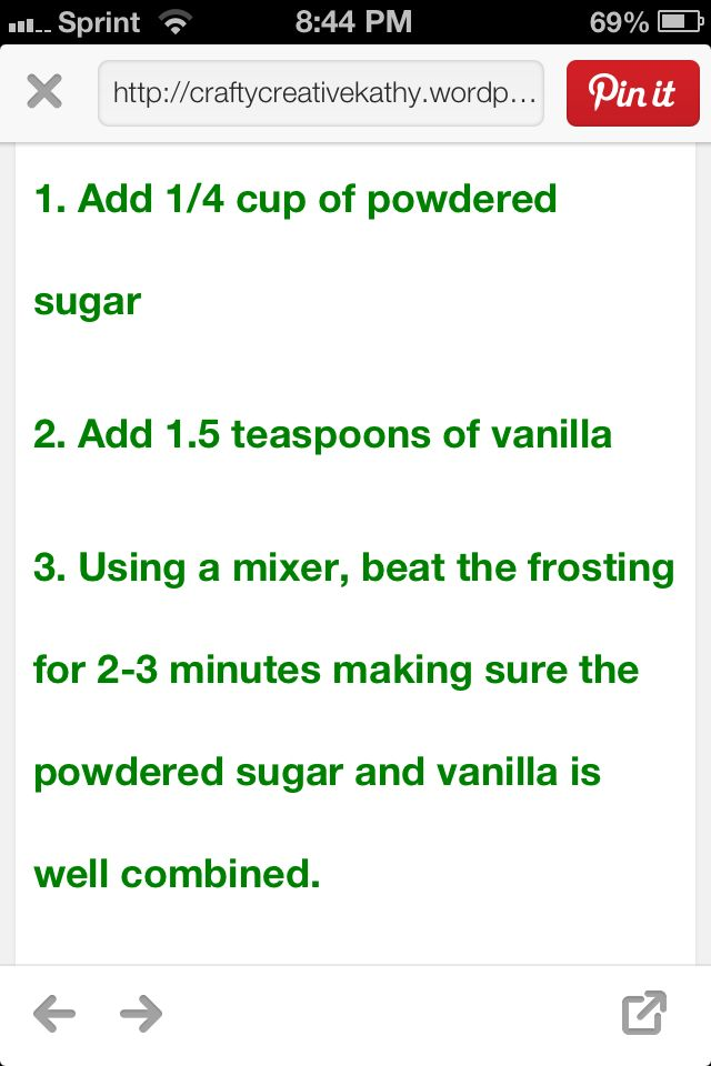 How to make canned frosting taste homemade. Scrape all frosting out if container into bowl and follow directions.