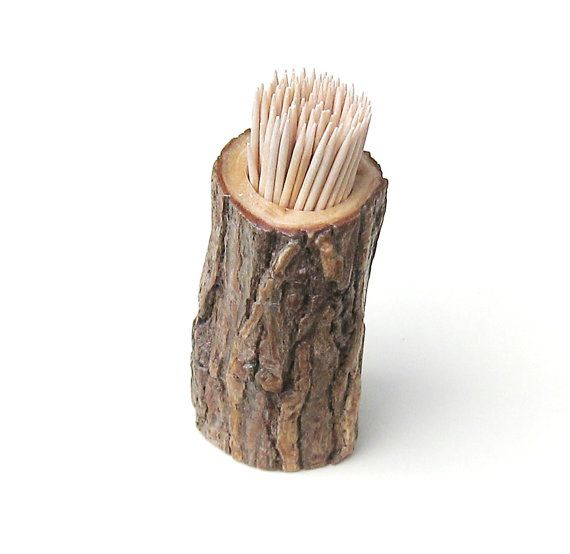 Toothpick Holder Rustic Wedding Table Decor By Midnightcoiler