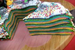 recette de cuisine gâteau de crêpes rainbow