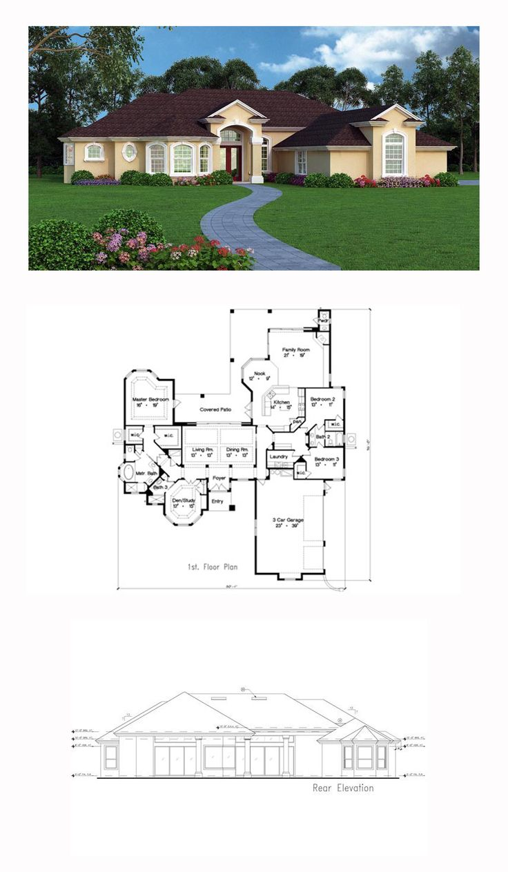 European Mediterranean Tuscan House Plan 63380 More