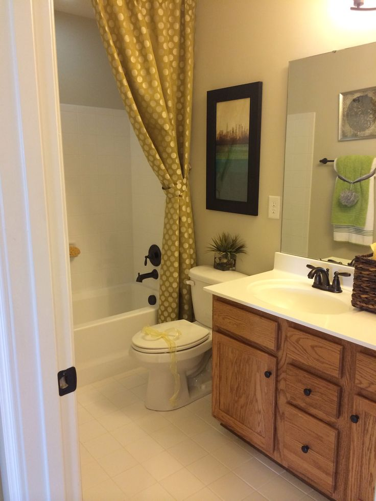 Model homes decorated bathrooms