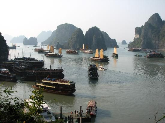 Halong Bay, Vietnam: Bay view