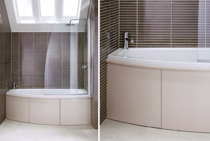 At 1700mm long, the symmetry bath with co-ordinating bath screen is the perfect size for the average british bathroom #symmetry #symmertyfitted #bathroomfurniture #myutopia