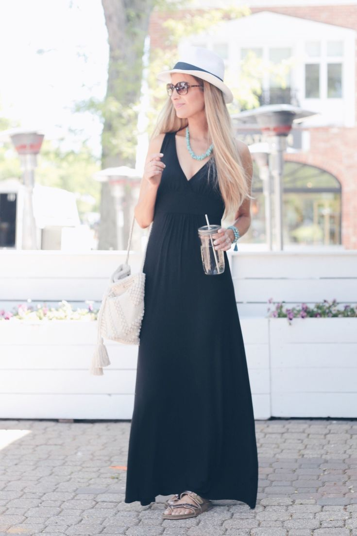 2ca77a725f4 How to Wear a Little Black Maxi 3 Ways