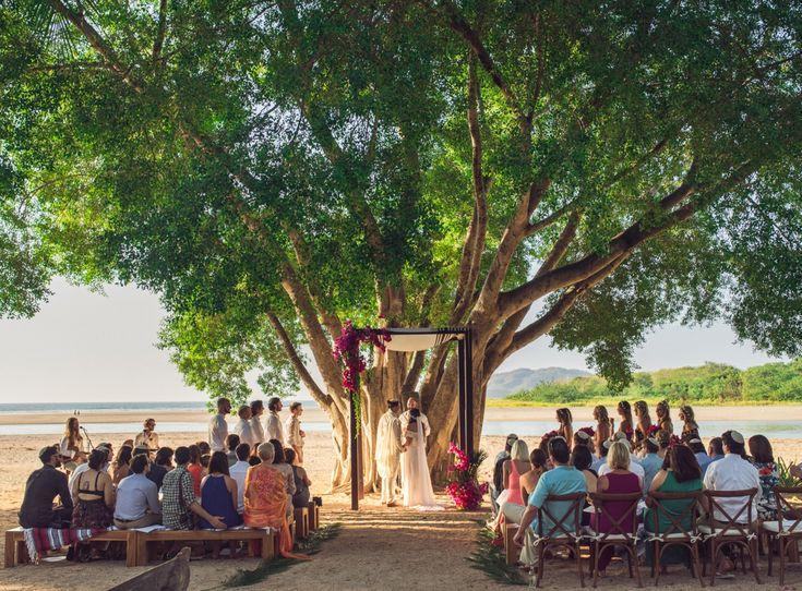Tamarindo Costa Rica Tree Wedding Destination In Photography By