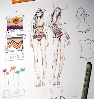 Deep Fried Freckles.: Fashion Illustration