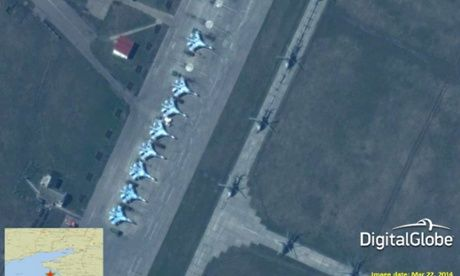 Satellite images reveal Russian military buildup on Ukraine's border.(April 10th 2014