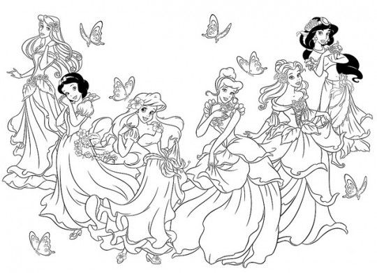 Ms de 25 ideas increbles sobre Princesas para colorear en