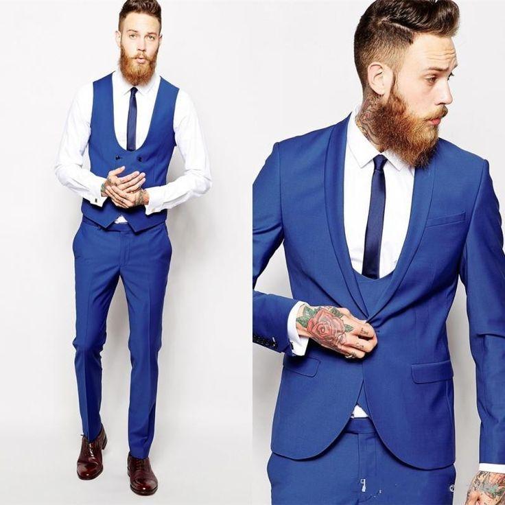 Custom Made Groom Tuxedos Business Suits Classic Black Cheap White Blazer Men Prom Mens Tux Bridegroom (Jacket+Pants+Vest)
