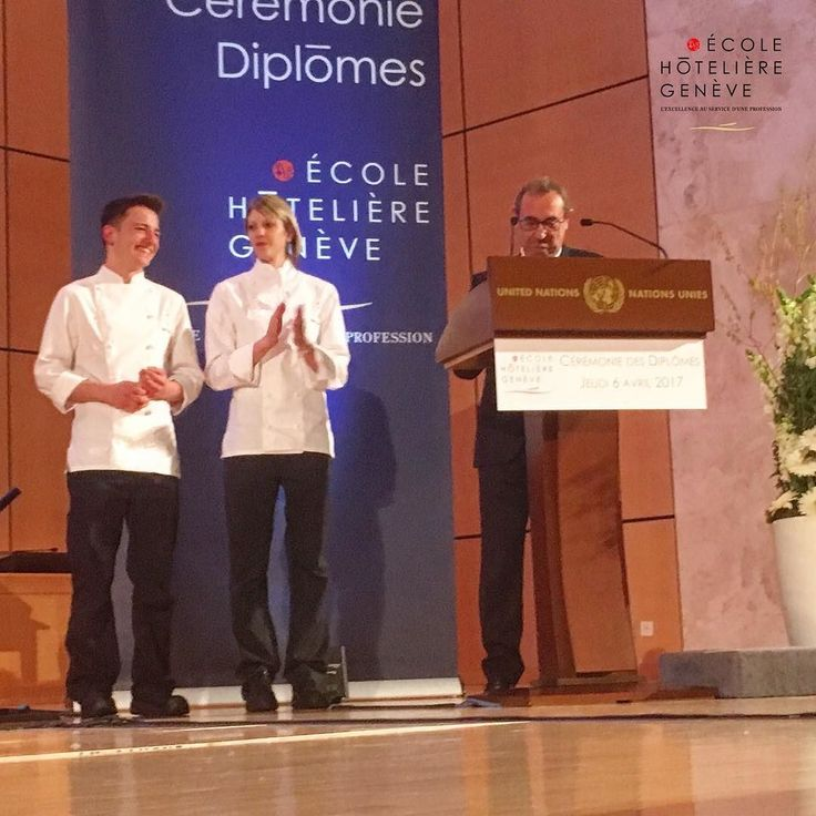 Honneur à Elodie Manesse et a Robon Bessire ( Vainqueurs du Concours du Cuisinier d'or 2017 ) lors de la Cérémonie de Remise des Diplômes aux étudiants de l'EHG dans le cadre prestigieux du Palais des Nations à Genève  #geneve  #geneva  #lakegeneva #lacleman #restaurant #ehg  #EHGLife #ecole #ecolehoteliere #ecolesuisse #hotelschool #swisshotelschool #hotellerie #swissriviera #switzerland  #lac #riviera  #genevalake  #visitgeneva  #switzerland #lacdegeneve  #genevacity #lacleman  #igersuisse…