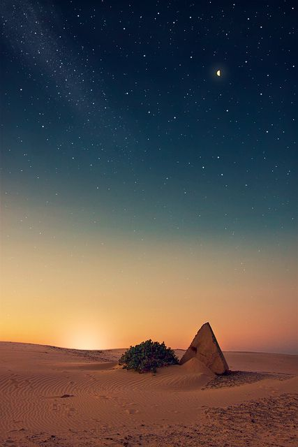 Under the stars at Stockton Beach. Port Stephens, N.S.W.