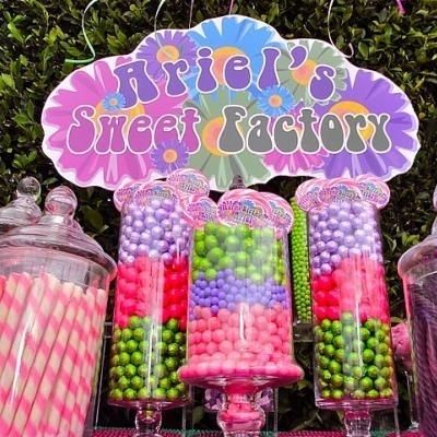 Sweet Factory Birthday Party (Sweet 16): Sweet 16, 16 Ideas, Birthday Parties, Factories Birthday, Parties Ideas, Sweet Factories, Bday Parties, Candy Jars, Candy Land