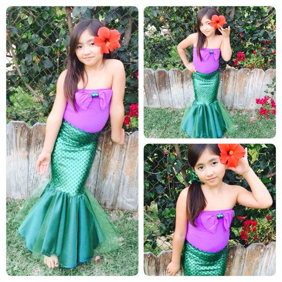 BELLA SIRENA modest top mermaid costume mermaid by MTBGBOUTIQUE