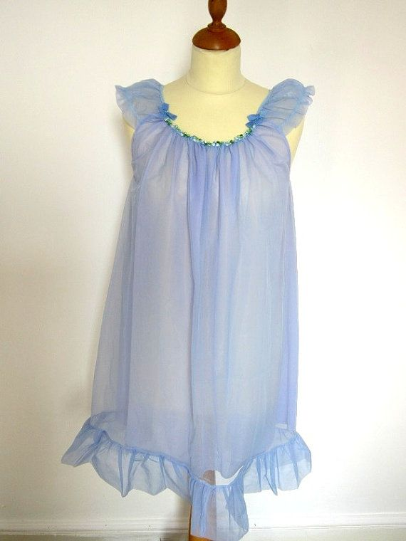 Vintage 1960s Baby Doll Lingerie Nightie Pale by HistoiredeMode
