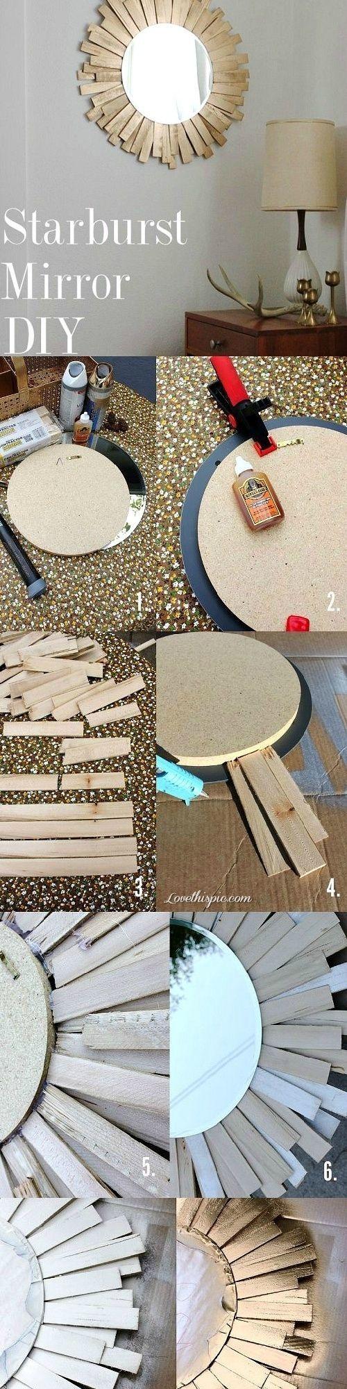 DIY starburst mirror diy decorating ideas crafts instructions diy decor for the home home ideas craft decor craft mirror mirrors by Jennifer Evanich Buckridge