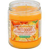 Pet Odor Exterminator Orange Lemon Splash Deodorizing Candle, 13-oz jar
