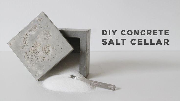 DIY Salt Cellar   How to make a concrete box
