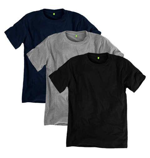 Organic Cotton T-shirt  - 3 Pack +1 Red-Black-White-Navyblue