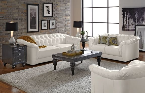 Love This Living Room Giorgio Leather Collection Value City - American signature sofas
