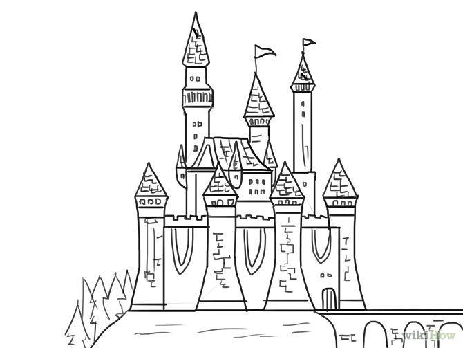 17 best ideas about castle drawing on pinterest