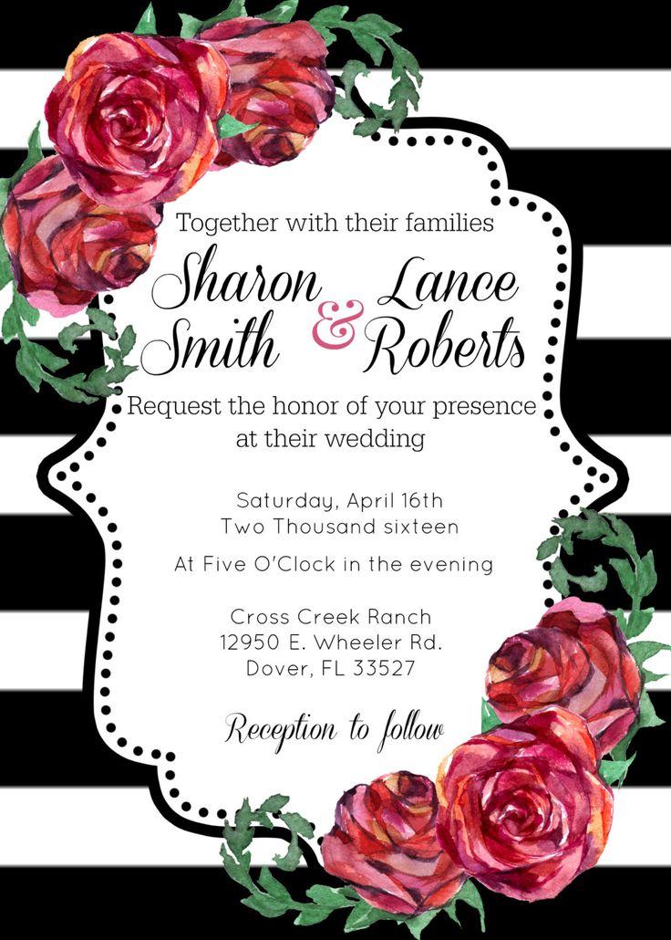 Floral Frame Invitation