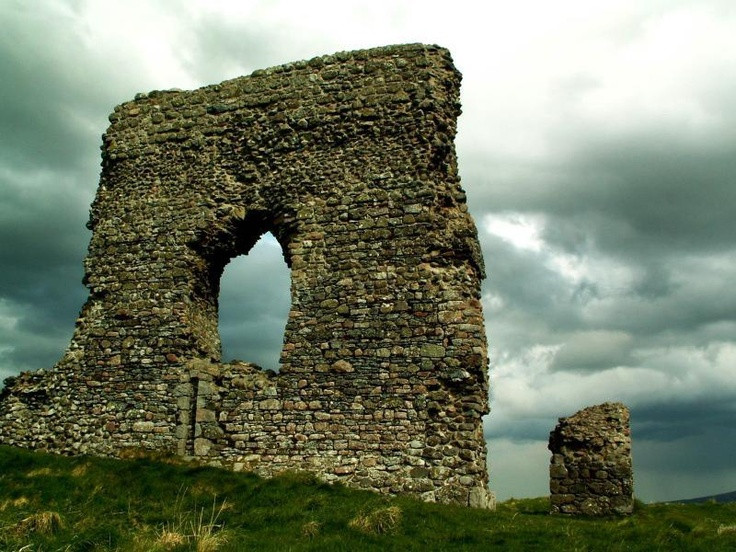 Ruins of Dunnideer Castle, Aberdeenshire - Dunnideer was a tower house built partially from the remains of an existing vitrified hill fort in the same location. Is presumed to have been built by Gregory the Great in AD 890, but may have been built by David, Earl of Huntingdon and Garioch in 1178. It is probably the earliest authenticated example of a tower house in Scotland.
