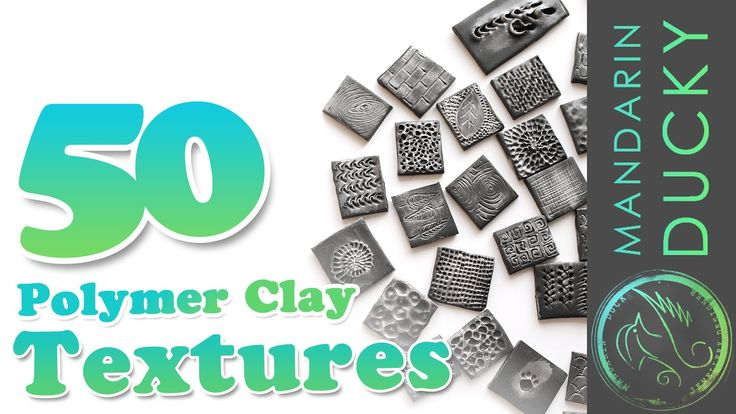 Video: 50 Polymer Clay Textures with ball tool  by Mandarin Ducky.  Fascinating at high speed.   #Polymer #Clay #Tutorials
