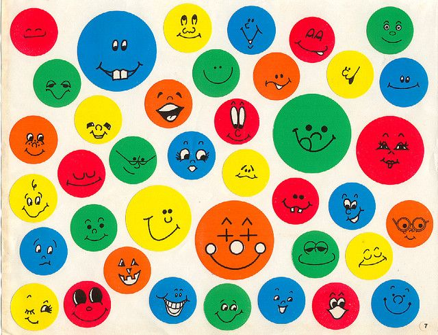 Smiley face stickers.