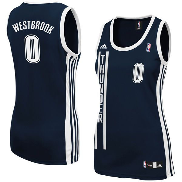 Russell Westbrook Oklahoma City Thunder adidas Women's Replica Jersey - Navy Blue - $55.99