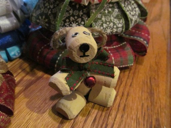 Christmas Puppa Dog wine cork ornament by theKrazyCrafters on Etsy, $5.00