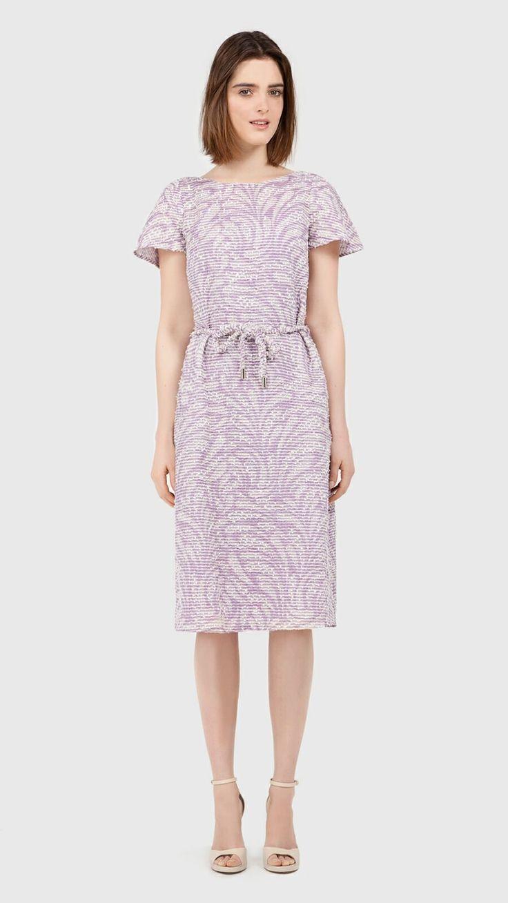 Weaved midi dress