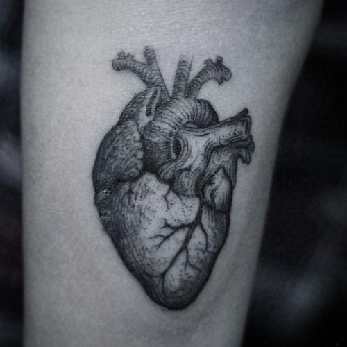 Dotwork Heart Tattoo by Alex Lazarini