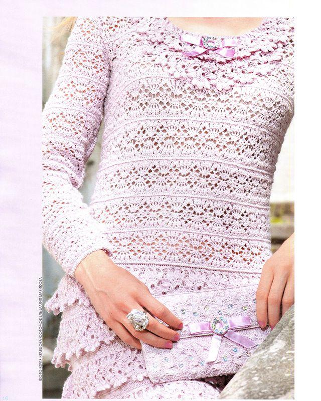 Edivana Croche: QUER FICAR LINDA?! Vestido Salmão Babadinhos