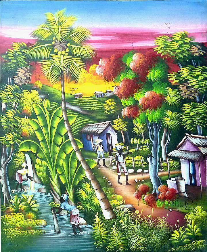 164 best Haitian Canvas Paintings - Haitian art ...