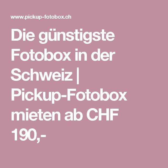 Die günstigste Fotobox in der Schweiz | Pickup-Fotobox mieten ab CHF 190,-